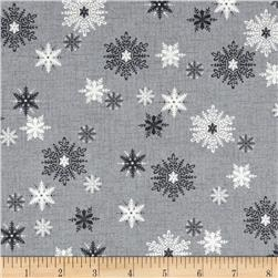 Scandi 3 Snowflakes Gray
