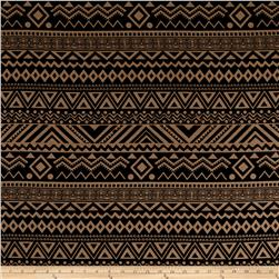 Rayon Challis Geo Aztec Prints Brown/Black