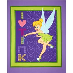 Disney Tinkerbell I Heart Tink Panel Purple