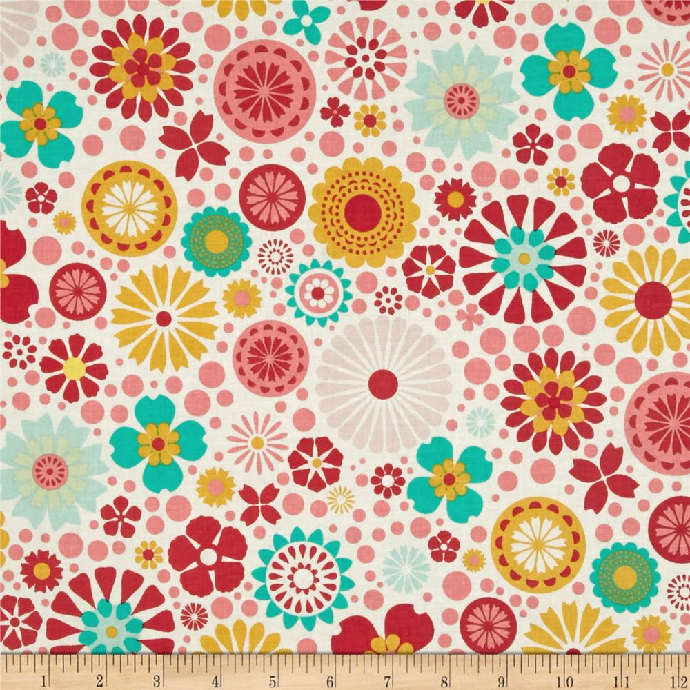 Riley Blake So Happy Together Large Tossed Floral