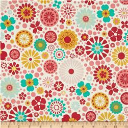 Riley Blake So Happy Together Large Tossed Floral Pink
