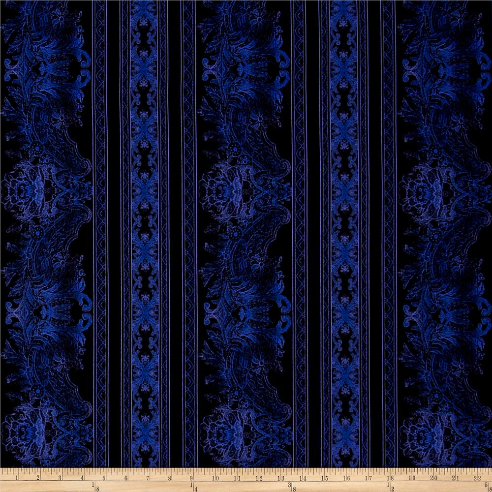 Jinny Beyer Burano Lace Border Periwinkle Fabric