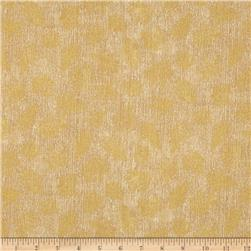 Kaufman Shades of the Season Metallic Small Leaves Ivory