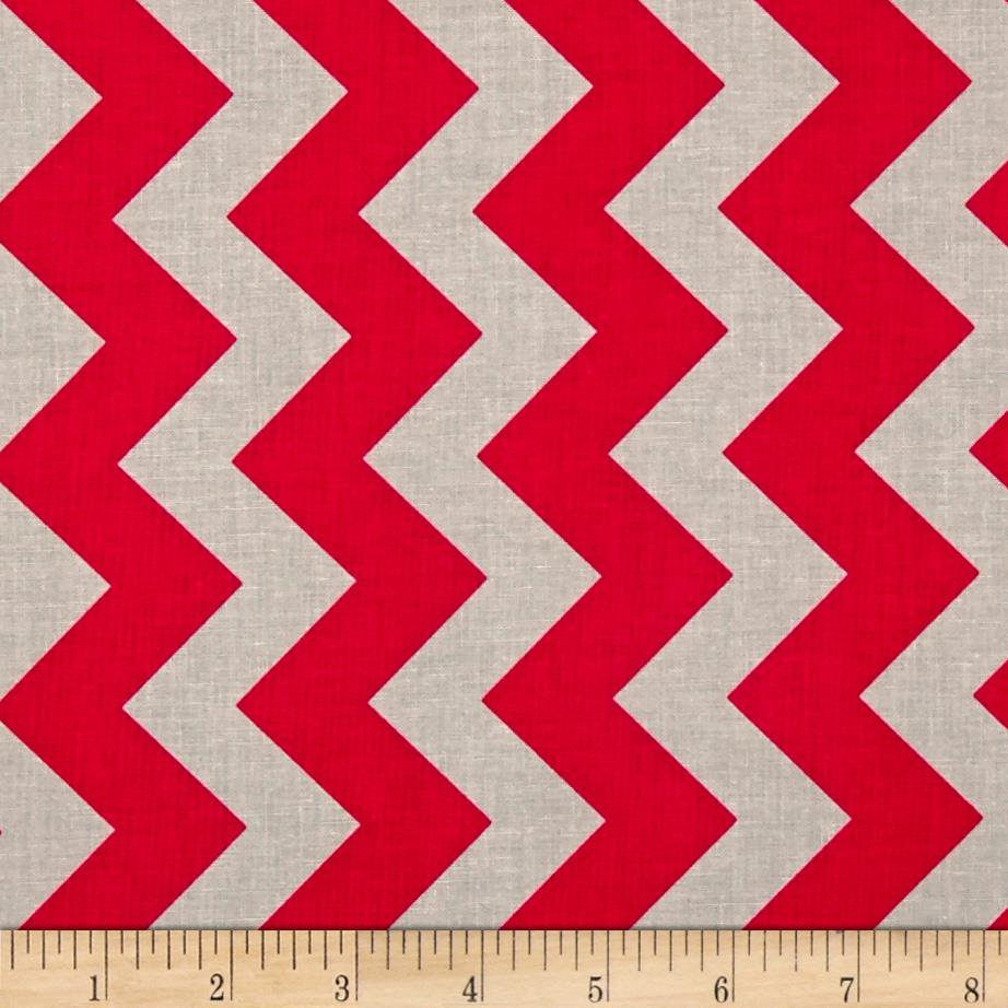Riley Blake Medium Chevron Red/Gray