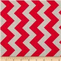 Riley Blake Medium Chevron Red/Grey