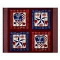 American Pride Proud To Be American 36 In. Panel Blue/Burgundy