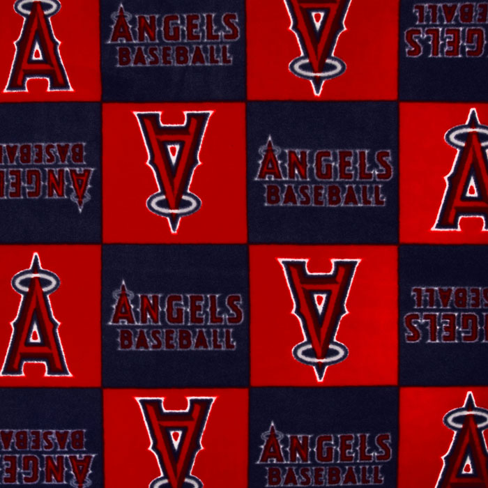 MLB Fleece Los Angeles Angels of Anaheim Blocks