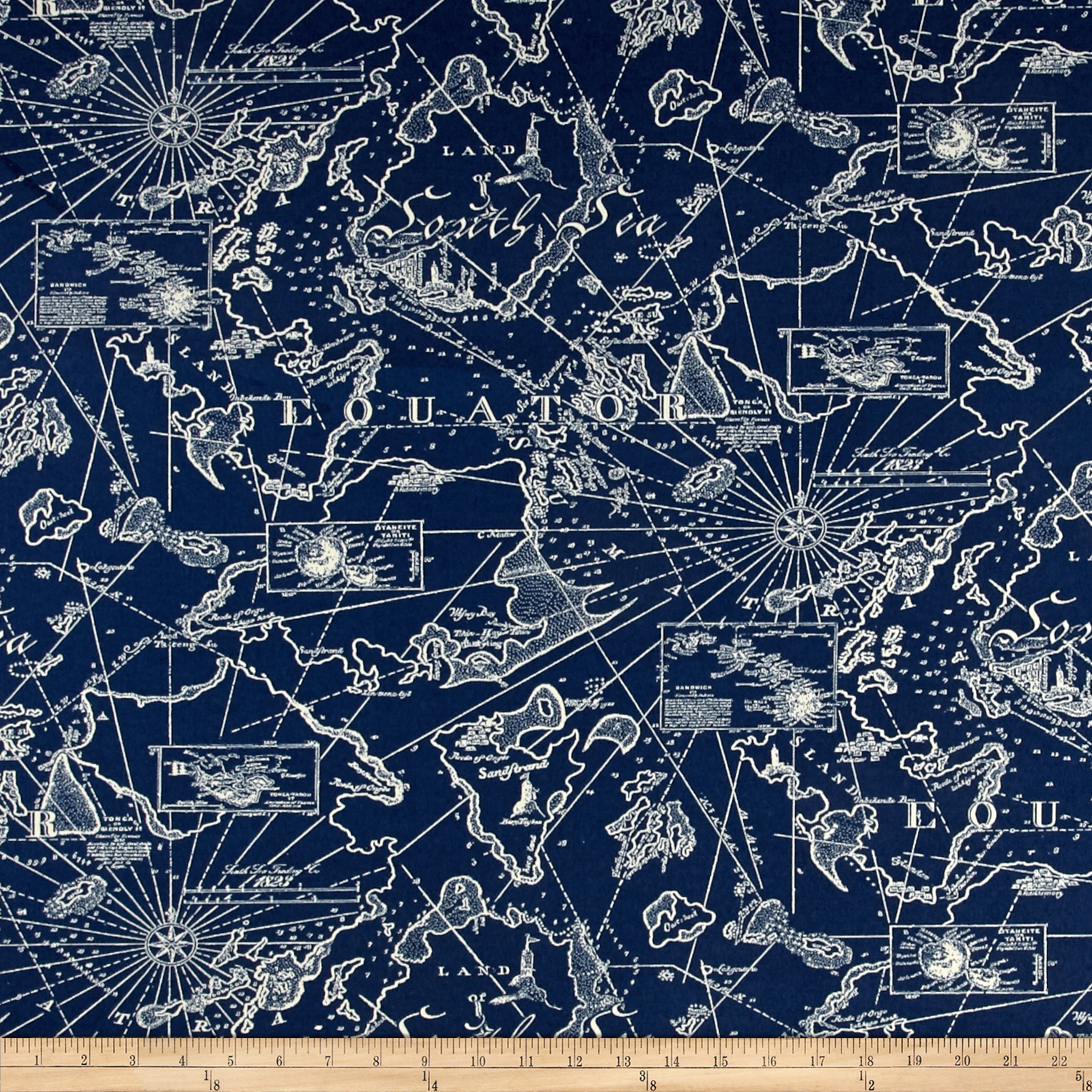 Tommy Bahama Indoor/Outdoor South Seas Nautical Fabric by Waverly in USA