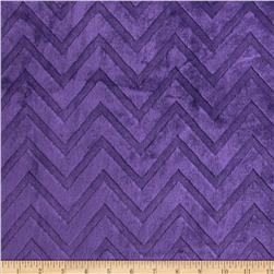 Minky Cuddle Embossed Chevron Amethyst