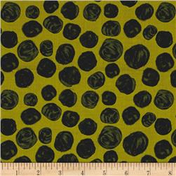 Florianna Textured Dot Green/Black