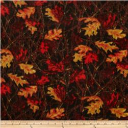 Fleece Leaves Red/Gold/Brown