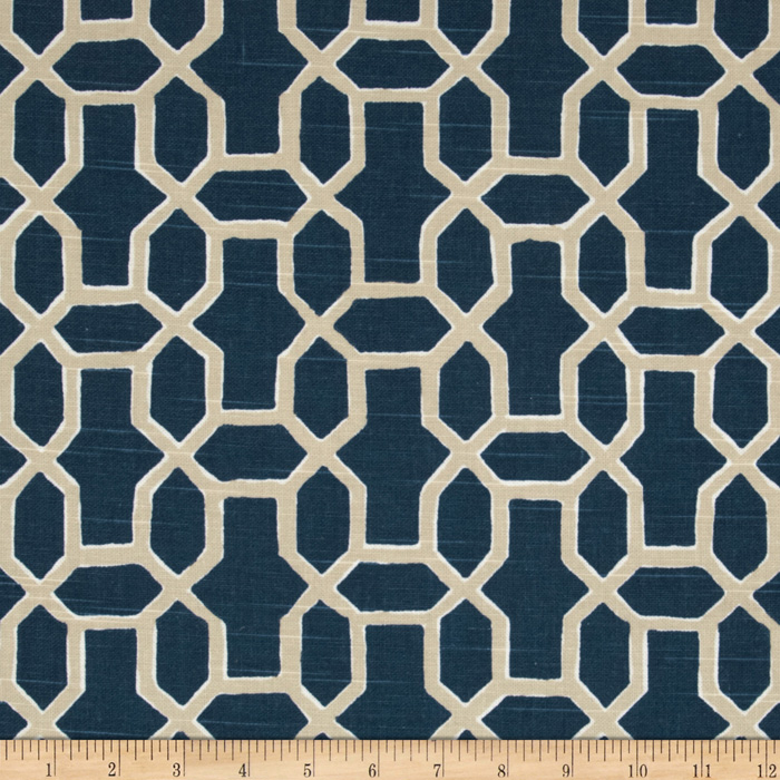 Home Accents Sultan Indigo Fabric
