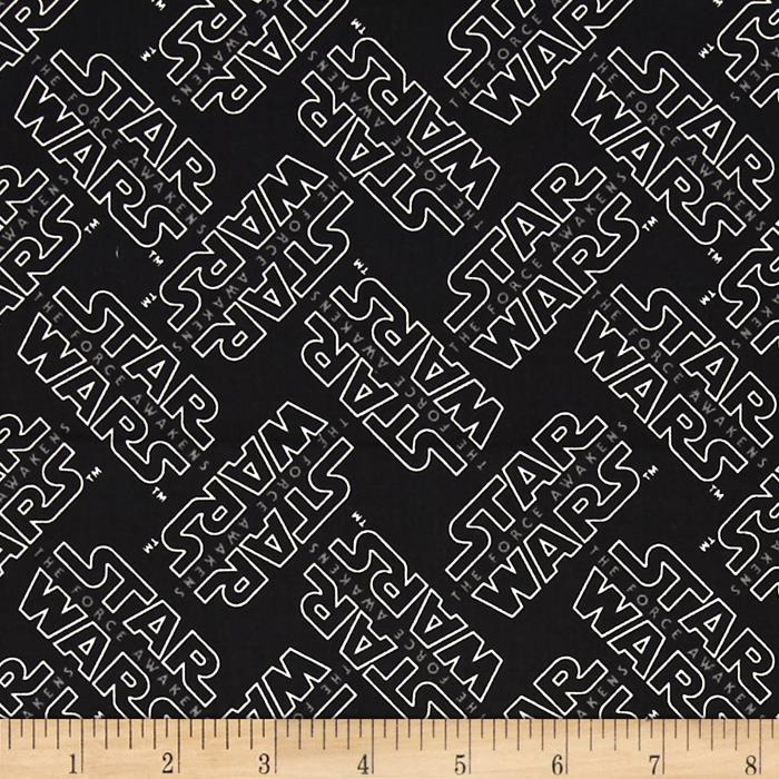 Star Wars The Force Awakens Logo Black