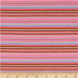 Striped Stretch Jersey Knit Dusty Pink