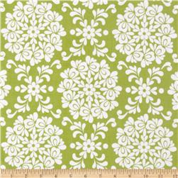 Riley Blake Priscilla Laminate Damask Green