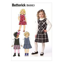 Butterick Children's/Girls' Jumper Pattern B6083 Size CDD