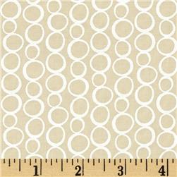 Moda Muslin Mates Bubbles Natural Fabric