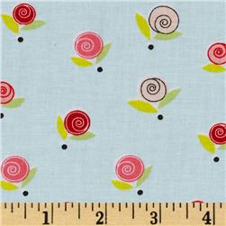 Sugar & Spice Small Rosette/ W/Dot Light Blue