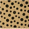 Printed Burlap Scattered Dots Natural/Black
