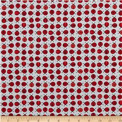 Robert Kaufman Urban Zoology Mini Ladybugs Red