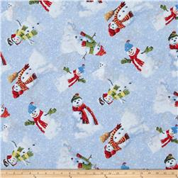 Winter's Eve Snowmen Toss Light Blue