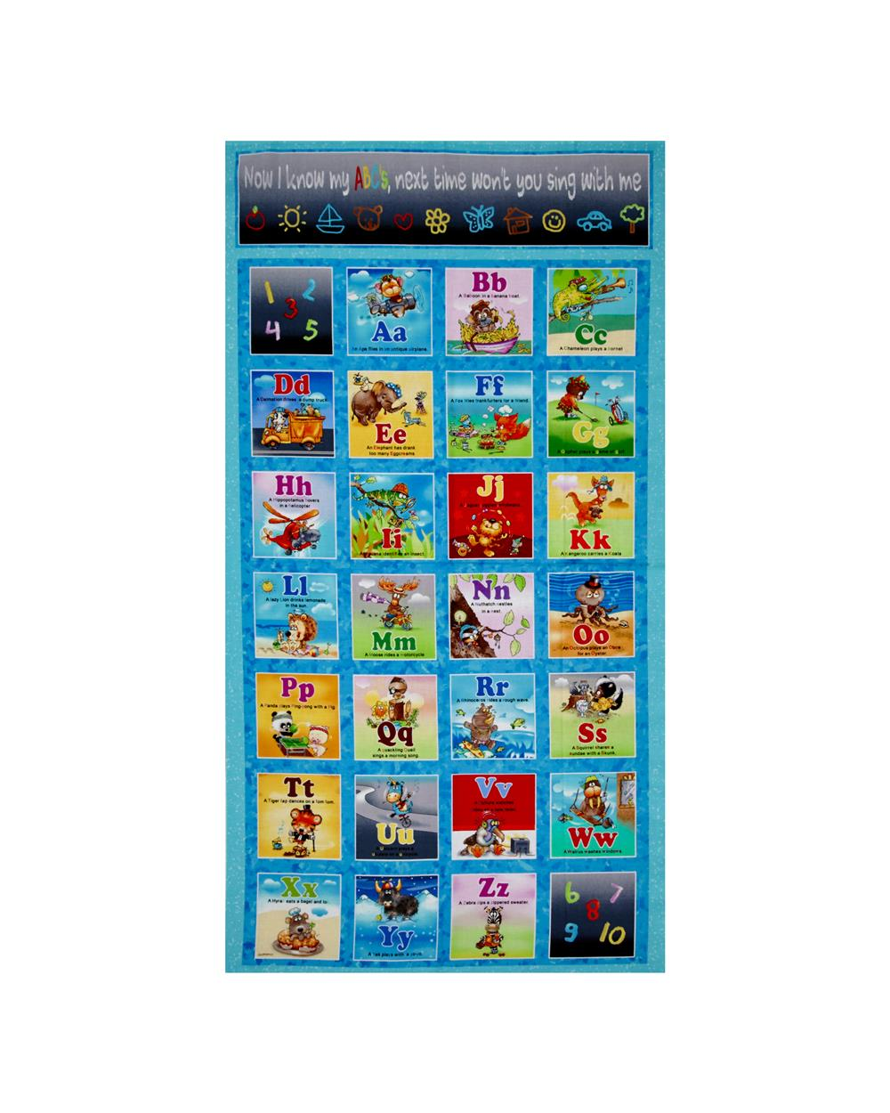 Alphabet Friends 23 In. Panel Multi