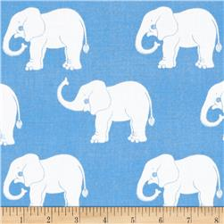Trunk Show Elephants Blue & White
