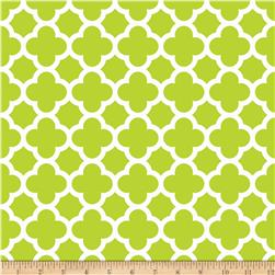 Riley Blake Medium Quatrefoil Lime Fabric