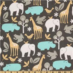Michael Miller Baby Zoology Flannel Sea