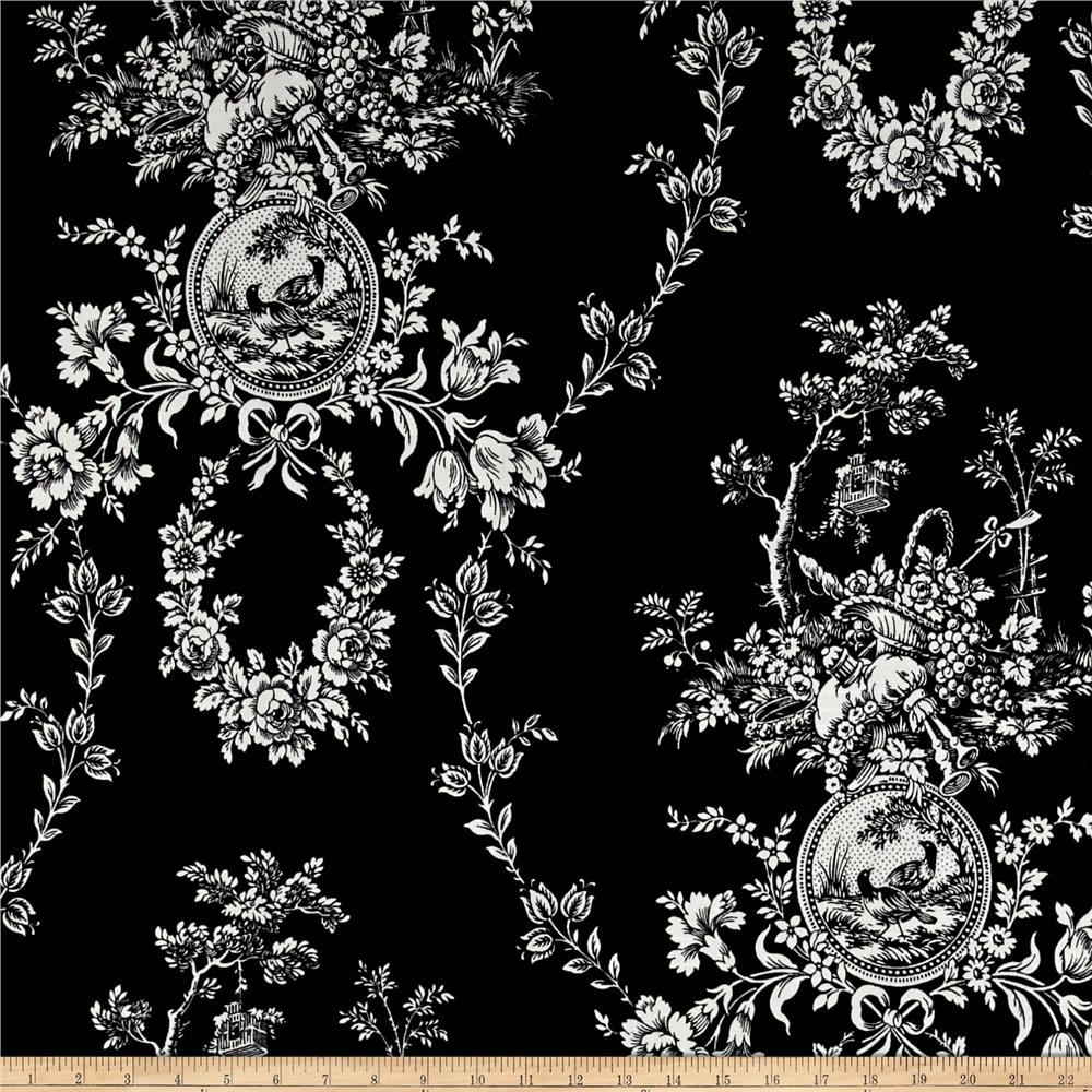 Waverly Country House Toile Noir Discount Designer