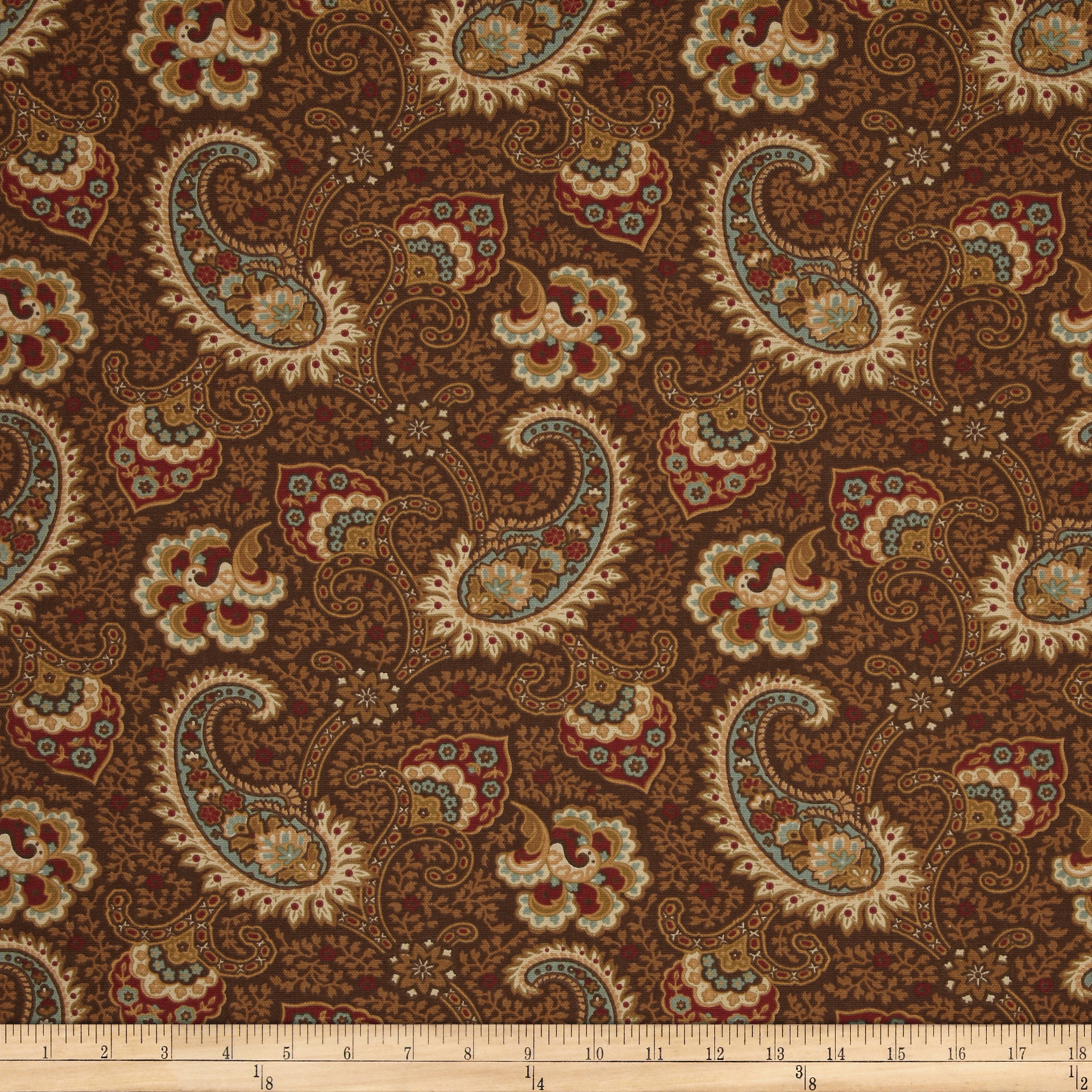 Waverly Little Falls Paisley Driftwood Fabric