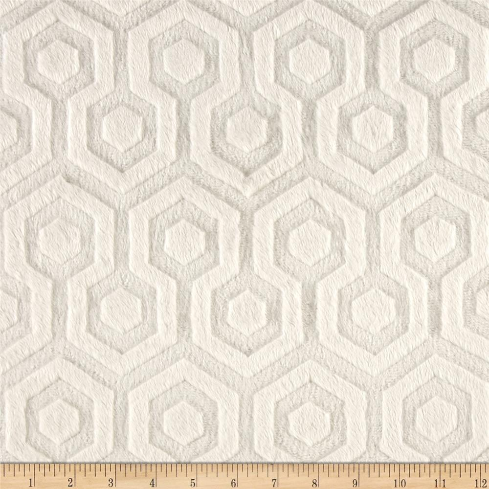 Premier Prints Embossed Geo Cuddle Ivory