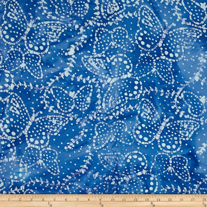 Indian Batik Sarasota Butterfly Light Blue