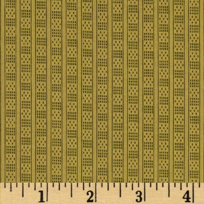 Prairie Home and Companions Pin Dash Stripe Olive