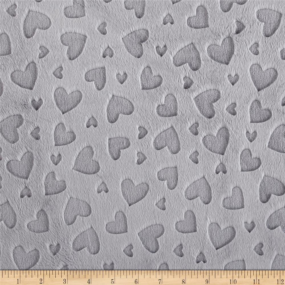 Shannon Embossed Heart Cuddle Silver