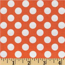 Michael Miller Ta Dot Tangerine Fabric
