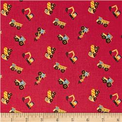 Lewis & Irene Small Things On The Move Diggers Red