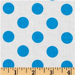Riley Blake Dots Neon Blue Fabric