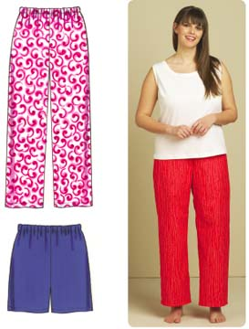 Kwik Sew Sleep Pants & Shorts Plus Size