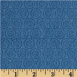 Riley Blake Fly Aweigh Flannel Circles Blue