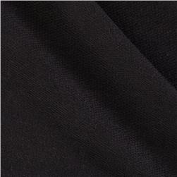 Designer Stretch Blend French Terry Knit Black