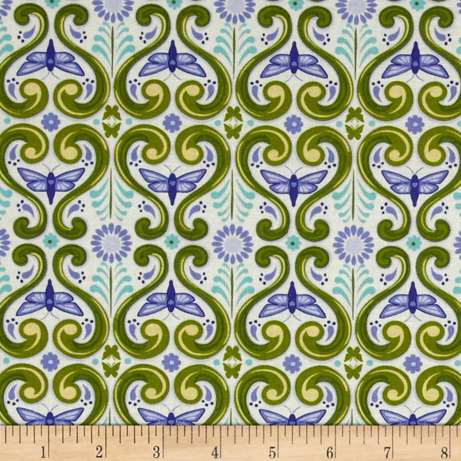 Grace Deco Butterflies Green