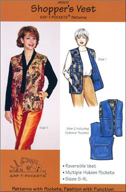 Saf-T-Pockets Reversible Shopper's Vest Pattern