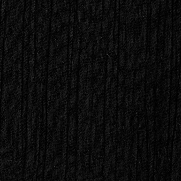 Island breeze gauze black discount designer fabric for Black fabric