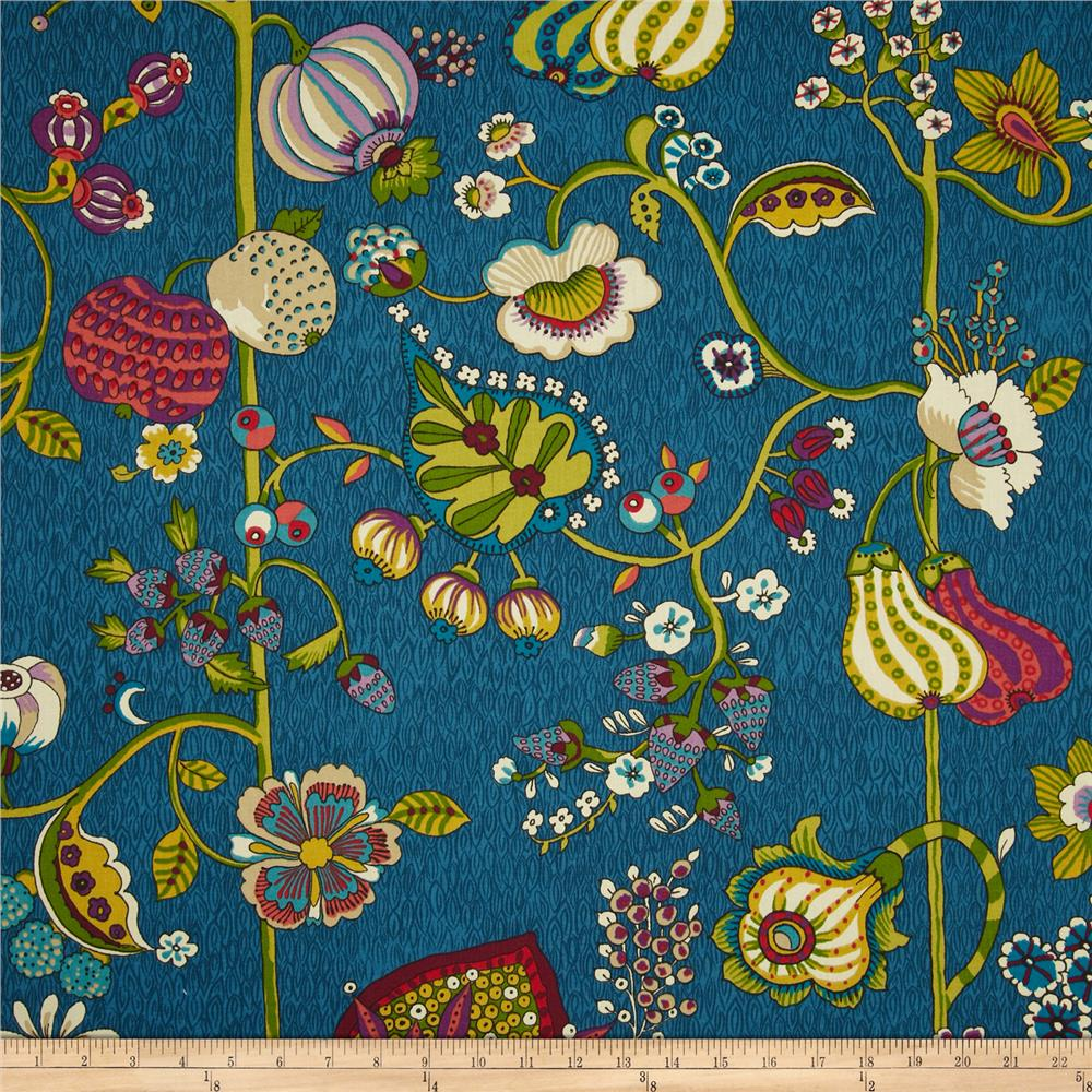 Richloom Delphine Sateen Bouquet Blue