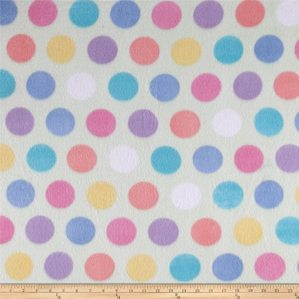 Polar Fleece Print Fun Dot Coral