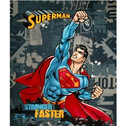 Superman Stronger Faster Fleece Panel