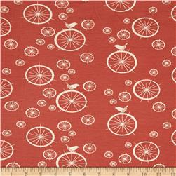 Birch Organic Mod Basics Interlock Knit Birdie Spokes Coral
