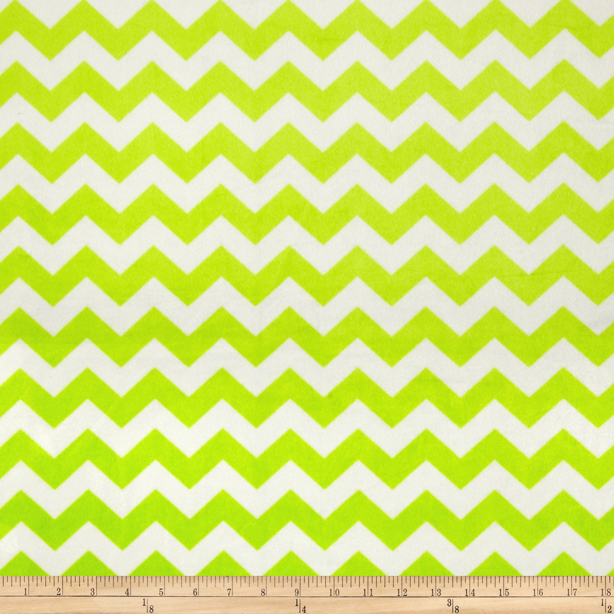 Riley Blake Dreamy Minky Medium Chevron Lime Fabric