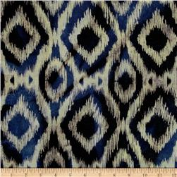 Indian Batik Flannel Ikat Navy